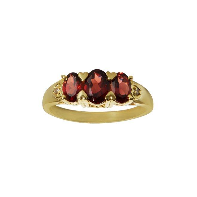 Vintage Molly Garnet ring gold