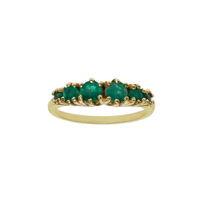 Vintage Emily Emerald ring gold