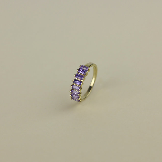 Lilac Eternity ring gold