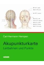 Kiener Akupunkturkarte - Leitbahnen und Punkte