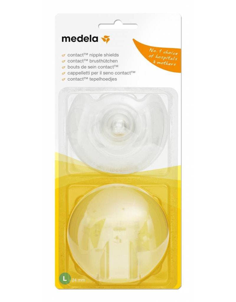 Medela Medela Brusthütchen Contact L (Ø 24mm), 2 Stück