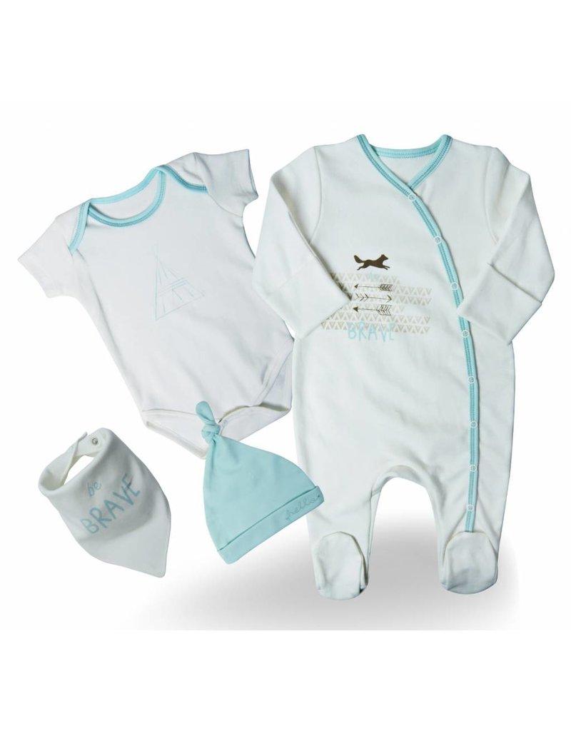 """Baby Corner Baby Corner Baby Geschenkset """"be brave"""" 0-3 Monate"""
