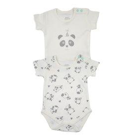 2-er Set Bodies Panda 0-3 Monate