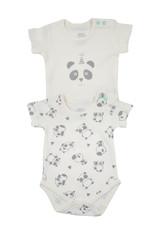2-er Set Bodies Panda 3-6 Monate