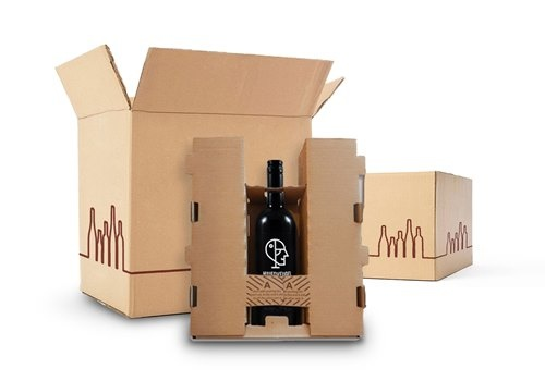 gepatendeerde verzendverpakking wijnen