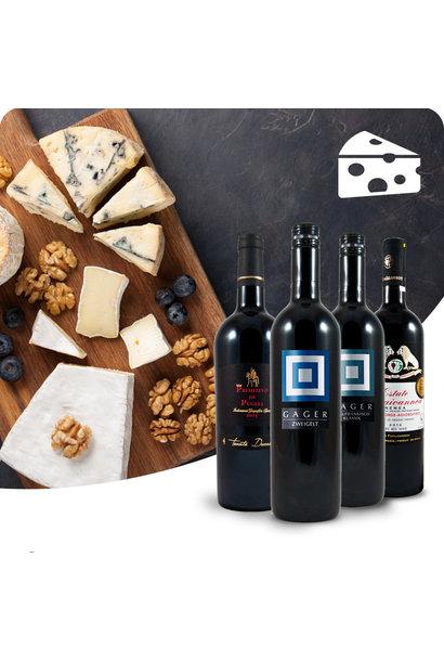 WIJNBOX - Kaas en rode wijnen