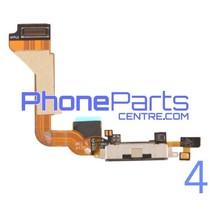 Dock connector / oplaadpunt met microfoon voor iPhone 4 (5 pcs)