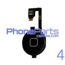 Volledige home button met kabel voor iPhone 4 (5 pcs)