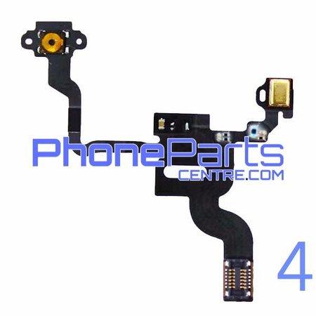 Aan en uitknop met kabel voor iPhone 4 (5 pcs)
