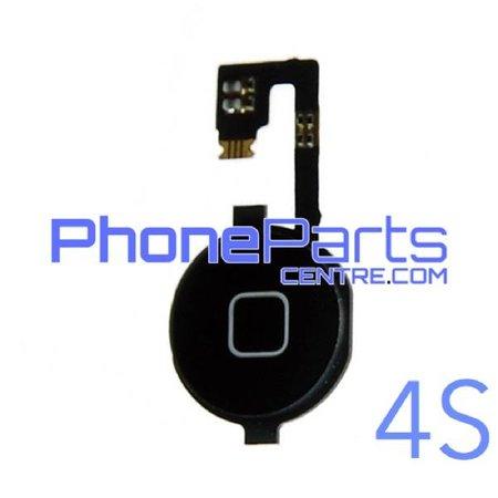 Volledige home button met kabel voor iPhone 4S (5 pcs)