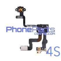 Aan en uitknop met kabel voor iPhone 4S (5 pcs)