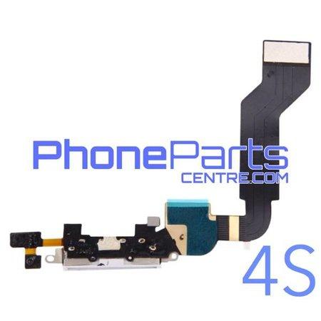 Dock connector / oplaadpunt met microfoon voor iPhone 4S (5 pcs)