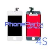 LCD scherm met touchscreen en frame premium kwaliteit voor iPhone 4S