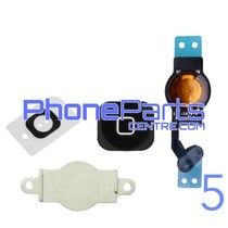 Full home button / flex cable for iPhone 5 (5 pcs)