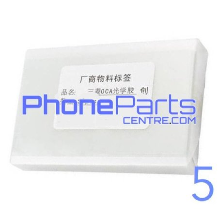 OCA lijmlaag t.b.v. touchscreen voor iPhone 5 (50 pcs)