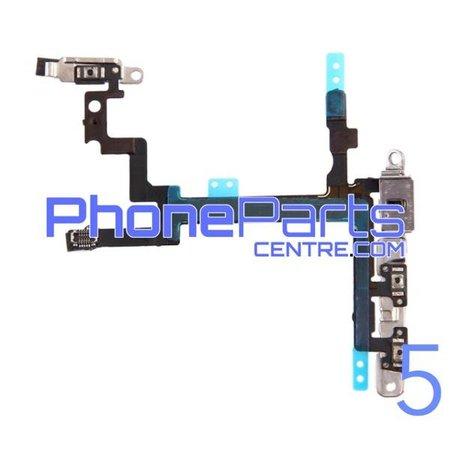 Aan uit volume en mute knoppen met flits voor iPhone 5 (5 pcs)