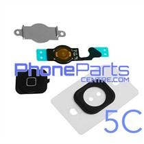 Volledige home button met kabel voor iPhone 5C (5 pcs)
