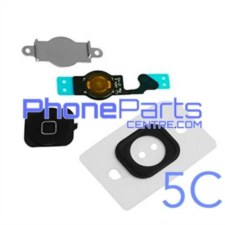 Full home button / flex cable for iPhone 5C (5 pcs)