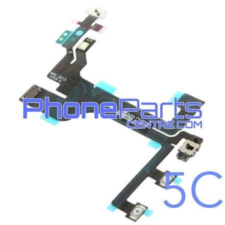 Aan uit volume en mute knoppen met flits voor iPhone 5C (5 pcs)