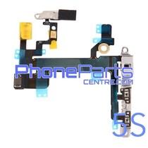Aan uit volume en mute knoppen met flits voor iPhone 5S (5 pcs)