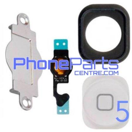 Volledige home button met kabel voor iPhone 5 (5 pcs)