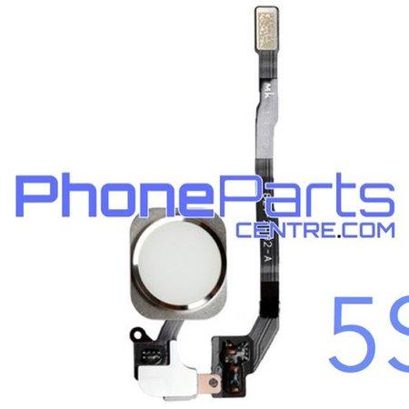 Volledige home button met kabel voor iPhone 5S (5 pcs)