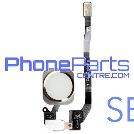 Volledige home button met kabel voor iPhone SE (5 pcs)