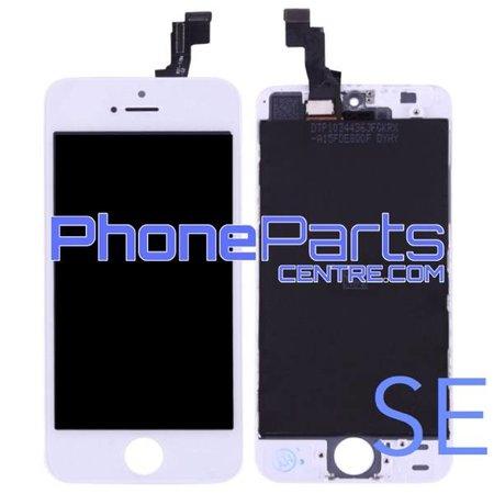 LCD scherm met touchscreen en frame premium kwaliteit voor iPhone SE