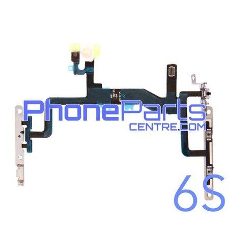 Aan uit volume en mute knoppen met flits voor iPhone 6S (5 pcs)