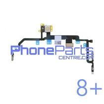 Aan uit volume en mute knoppen met flits voor iPhone 8 Plus (5 pcs)