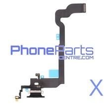 Dock connector / oplaadpunt met microfoon voor iPhone X (5 pcs)