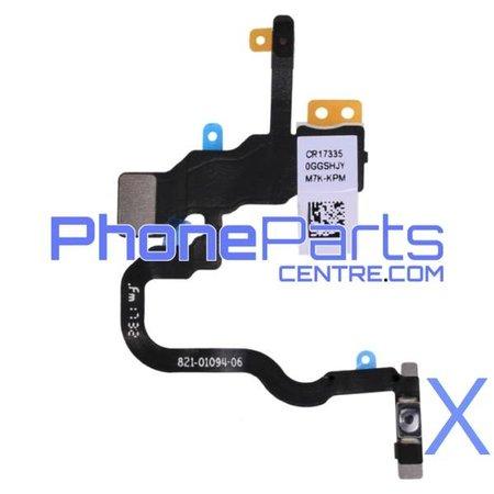 Power button / flash light for iPhone X (5 pcs)