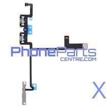 Volume en mute knoppen voor iPhone X (5 pcs)