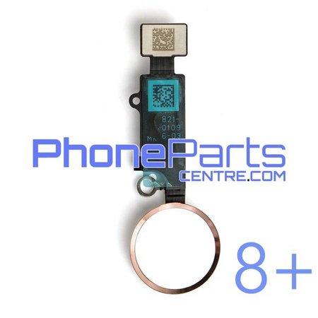Volledige home button met kabel voor iPhone 8 Plus (5 pcs)