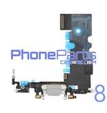 Dock connector / oplaadpunt met microfoon voor iPhone 8 (5 pcs)