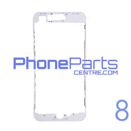 LCD frame with glue for iPhone 8 (10 pcs)