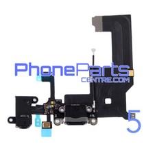 Dock connector met audio & microfoon voor iPhone 5 (5 pcs)