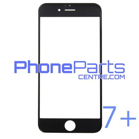6D glas - donkere winkelverpakking voor iPhone 7 Plus (10 stuks)