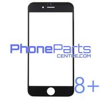 6D glas - donkere winkelverpakking voor iPhone 8 Plus (10 stuks)