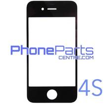 6D glas - witte winkelverpakking voor iPhone 4S (10 stuks)