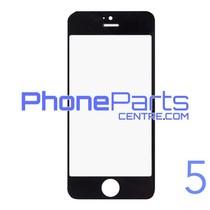 6D glas - witte winkelverpakking voor iPhone 5 (10 stuks)