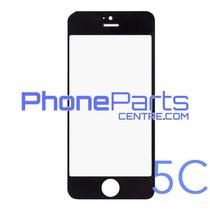 6D glas - witte winkelverpakking voor iPhone 5C (10 stuks)