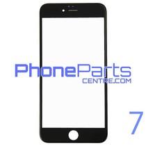 6D glas - witte winkelverpakking voor iPhone 7 (10 stuks)