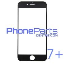 6D glas - witte winkelverpakking voor iPhone 7 Plus (10 stuks)