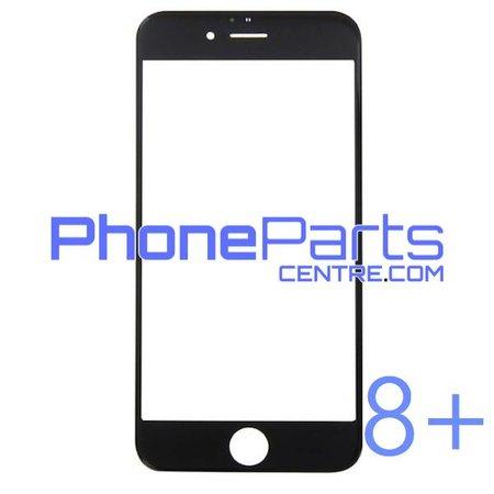6D glas - witte winkelverpakking voor iPhone 8 Plus (10 stuks)