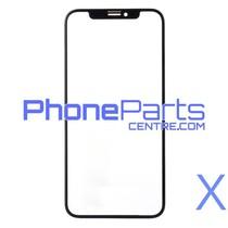 6D glas - witte winkelverpakking voor iPhone X (10 stuks)
