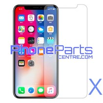Tempered glass  0.3MM 2.5D - retail packing for front iPhone X (10 pcs)