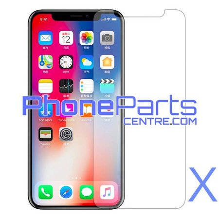 Tempered glass high quality 0.3MM 2.5D - no packing for front iPhone X (50 pcs)