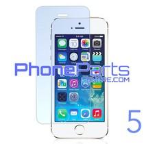 Tempered glass premium kwaliteit 0.3MM 2.5D - zonder verpakking voor iPhone 5 (50 stuks)