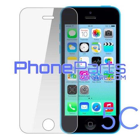Tempered glass premium kwaliteit 0.3MM 2.5D - zonder verpakking voor iPhone 5C (50 stuks)